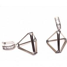 Amulette Jewel 3D Piramit Hematit Küpe